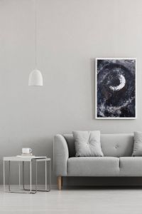 Contemporary Wall Art Luxury Abstract Painting Living Room Wall Art White Circle