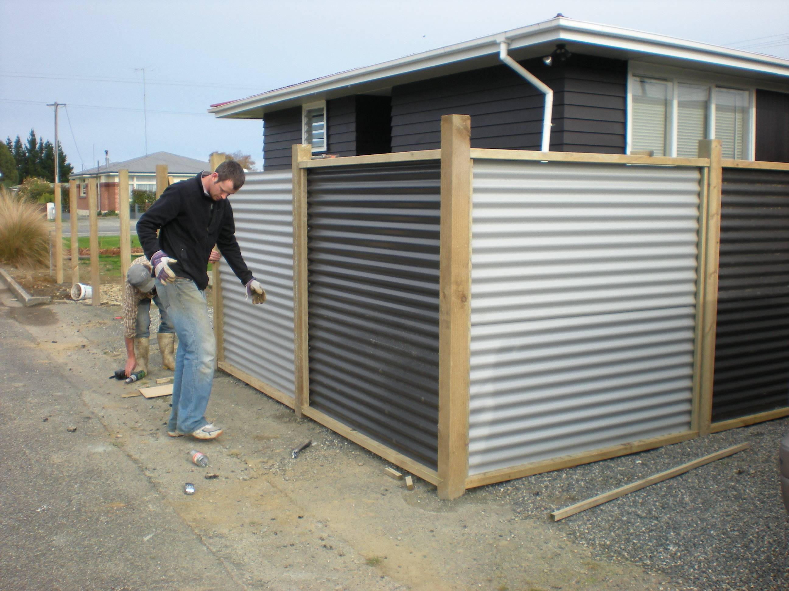 Corrugated Metal Fence Horizontal