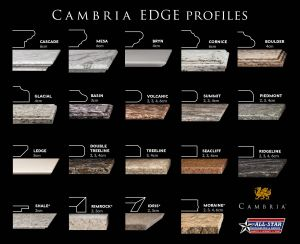 Countertop Edge Styles Luxury Cambria 19 Different Edge Profiles In 2019