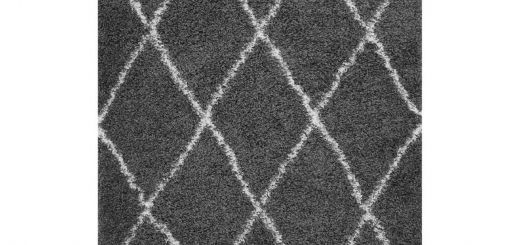 Dark Gray Carpet Lovely toryn Diamond Lattice 5 X 8 Shag area Rug In Dark Gray