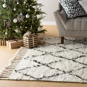 Dark Gray Carpet New Twinar Hand Knotted Wool F White Dark Gray area Rug