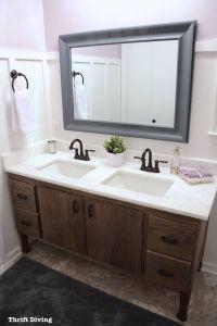 Double Vanity Bathroom Awesome Unique Bathroom Cabinets Diy