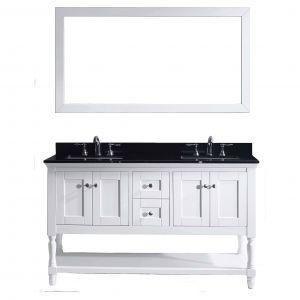 Double Vanity Bathroom New Julianna 60 Inch Double Vanity Black Granite top with Mirror