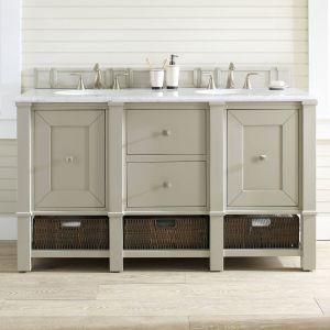 "Double Vanity Bathroom Unique Bancroft 60"" Double Vanity Set Rental Bh Bathrooms"