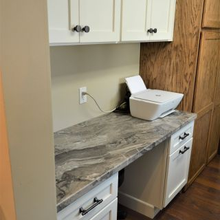Eased Edge Quartz Fresh Laminate Countertop Caspian Edge Detail Laria Color