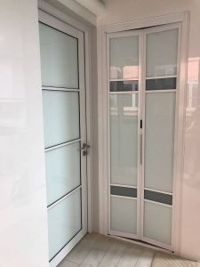 Glass Bathroom Doors Beautiful Bathroom and toilet Bifold Door In 2019