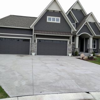 Grey Garage Doors Best Of Dark Grey Siding and Dark Garage Doors Nice Stone Accents