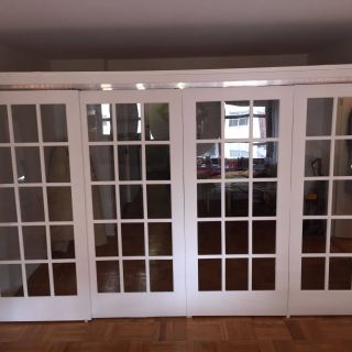 Hanging Room Dividers New Custom Sliding Frech Door Room Partition In Nyc Apartment