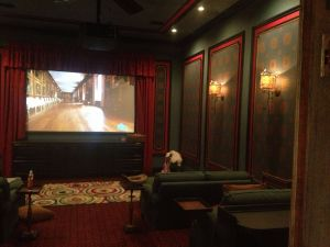Home theater Ideas Beautiful Awesome theater Room My Mom Custom Designed