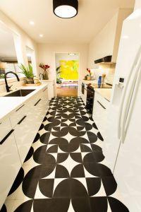 "Kitchen Floor Tiles New Arc Black 8""x8""x5 8"""