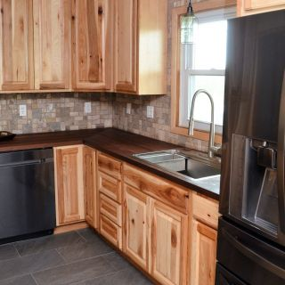 Knotty Pine Cabinets New Haas Signature Collection Wood Species Rustic Hickory