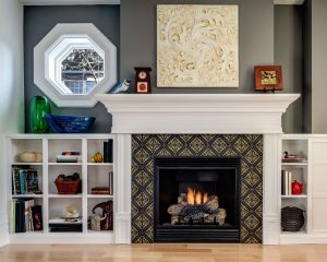 Marble Tile Fireplace Beautiful This Small but Stylish Fireplace Features Our Lisbon Tile