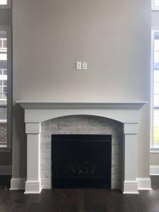 Marble Tile Fireplace Elegant Mantle 2 Brickwork 2x8 Studio Tile Surround