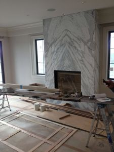 Marble Tile Fireplace Lovely Contemporary Slab Stone Fireplace Calacutta Carrara Marble