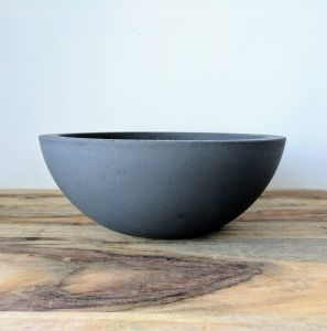 "Modern Fruit Bowl New Concrete Fruit Bowl 9"" Handmade Cement Fruit Basket Modern"