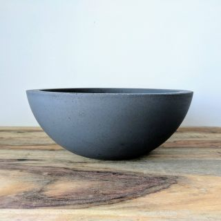 "Modern Fruit Bowl New Concrete Fruit Bowl 9"" Handmade Cement Fruit Basket Modern"