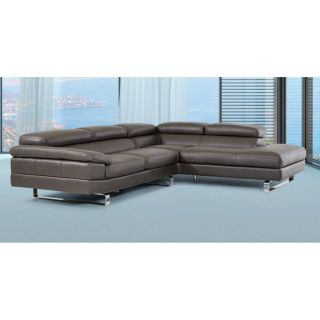 Modern Leather Sectional Luxury Lusso Violetta Italian Modern Leather Sectional sofa