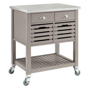 Rolling Kitchen Cart New Chason Kitchen Cart with Stainless top