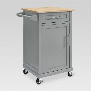 Rolling Kitchen Cart Unique Carey Small Kitchen Cart Gray Threshold