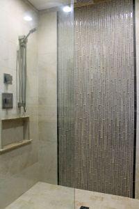 Shower Tile Designs Elegant Master Shower Design Beige Wall Tile with Gray Glass