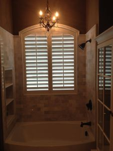 Shutters Vs Blinds Lovely Arched Plantation Shutters Over A Bathtub these are Made Of
