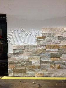 Slate Tile Fireplace Beautiful How to Install Stacked Stone Tile On A Fireplace Wall