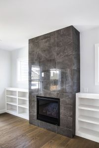 Slate Tile Fireplace Best Of 12x24 Porcelain Tile On Fireplace Wall Clean and Price