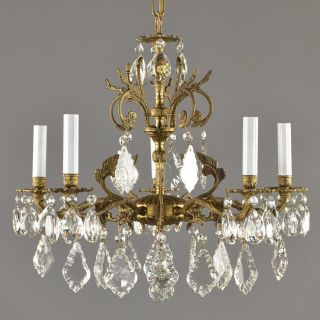 Spanish Style Chandelier Awesome Spanish Brass & Crystal Chandelier C1950 Vintage Antique
