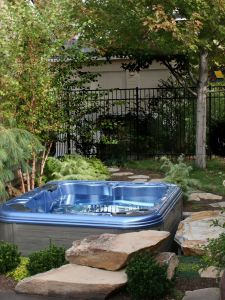 Stone Hot Tub Elegant Kodi Sims Photo Credit A Hot Tub Doesn T Distract From the