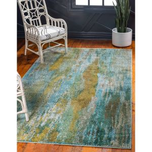 Turquoise area Rug Awesome Unique Loom Lilly Jardin Rug 8 X 10 8 X 10