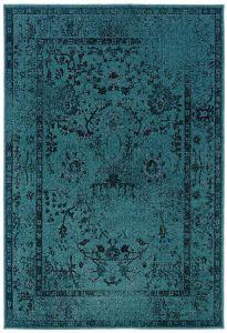 Turquoise area Rug Elegant Teal Blue Overdyed Style area Rug House Decor
