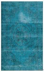 Turquoise area Rug Inspirational Turquoise Over Dyed Turkish Vintage Rug 6 3 X 10 4 75