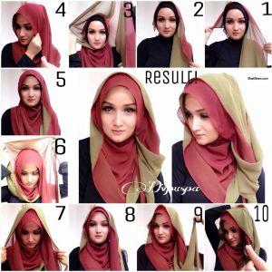 Tutorial Jilbab Pashmina Instan Beautiful Beautiful Double Layer Hijab Tutorial Style Hunt World