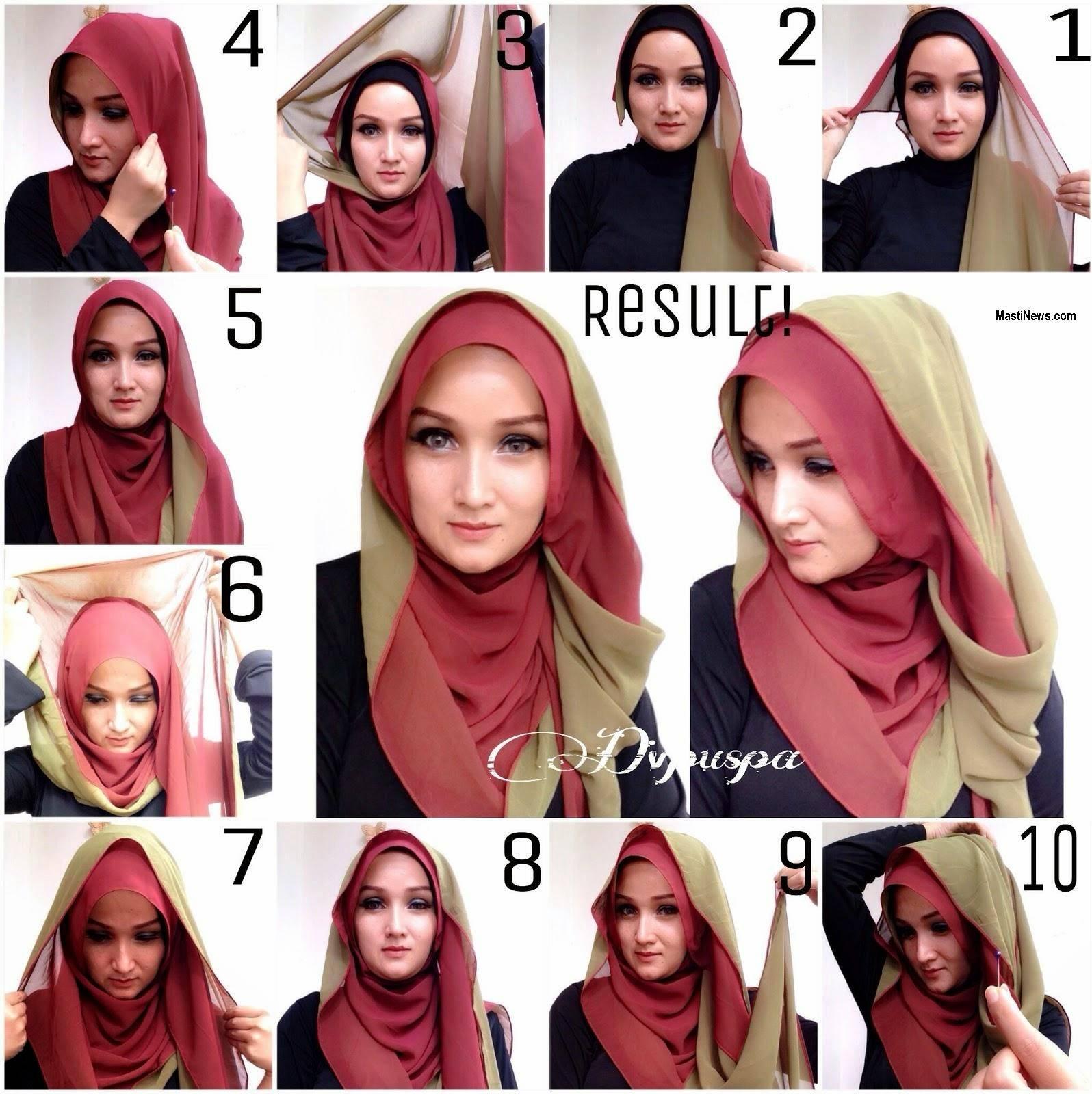 Beautiful Double Layer Hijab Tutorial 2