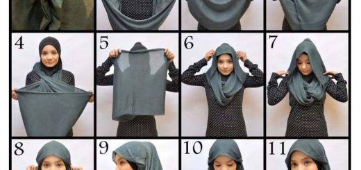 Tutorial Jilbab Pashmina Instan Inspirational Hijab Style Part E