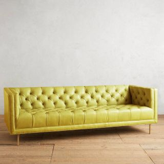 Velvet Tufted sofa Fresh Premium Leather Mina sofa