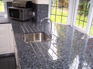 Volga Blue Granite Lovely Stunning Blue Pearl Granite Worktops Tightly Matched to