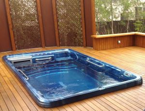 Wood Pool Cover Awesome Tidalfit Exercise Pool In Deck Courtesy Of Endless