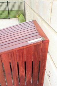 Wood Pool Cover Beautiful Stainless Steel Hinges for Lid Pool and Backyard