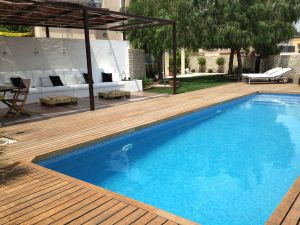 Wood Pool Cover Elegant Espedra Design Tarragona Spain Exterior Space Realized