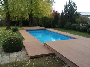 Wood Pool Cover Lovely Poolabdeckung Model butterfly Mit Bpc