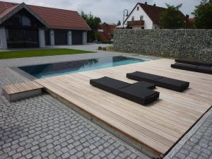 Wood Pool Cover Lovely Think that Entire Deck Could Be On Rollers and Just Roll