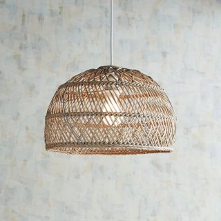 Woven Pendant Light Elegant Cane Gray Wash Pendant Light In 2019