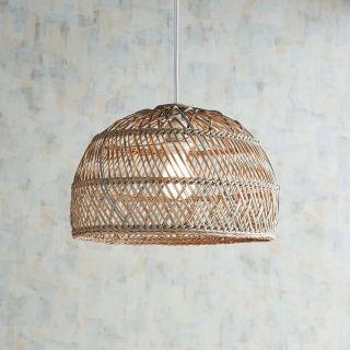 Woven Pendant Light Elegant Cane Gray Wash Pendant Light In 2019