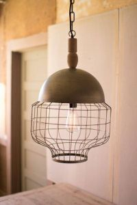 Woven Pendant Light Lovely $181 8 Kalalou Caged Pendant Light with Metal Dome and