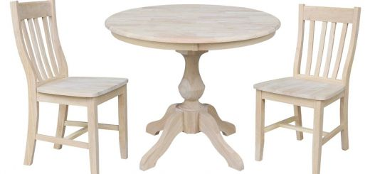 36 Round Table Awesome International Concepts 3 Piece Fluted Pedestal 36 In Dining