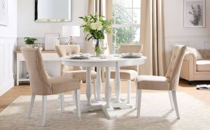 36 Round Table Lovely Highgrove Round White Wood Dining Table with 4 Bewley