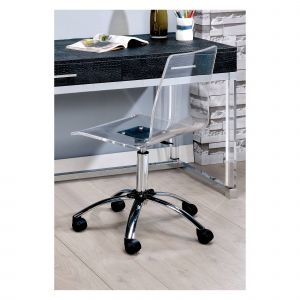 Acrylic Computer Desk New Clear Homes Inside Out Jacques Modern Fice Chair