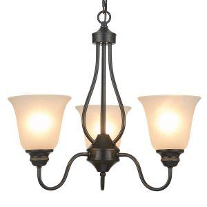 Bedroom Ceiling Lights Fresh Doraimi 3 5 Light Chandelier Lighting orb Finish with Opal Glass Shade Black 3 Light