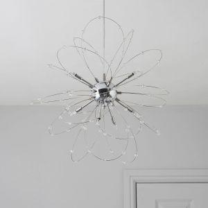 Bedroom Ceiling Lights Inspirational Hallie Beaded Chrome Effect 8 Lamp Pendant Ceiling Light